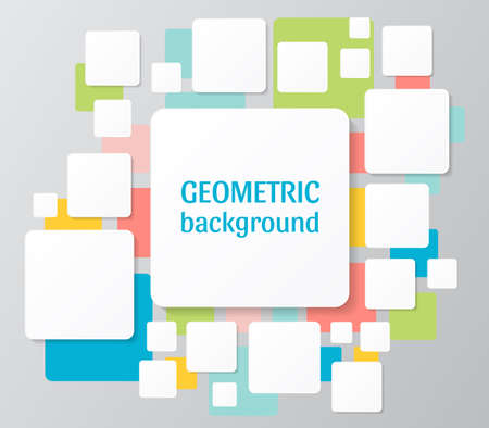 Geometric square patterns, vector illustration. Abstract colorful polygonal mosaic background. Design banner template for your web page and projects.