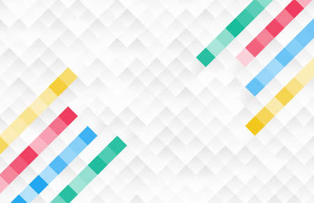 Abstract square pixel mosaic background with colorful lines.