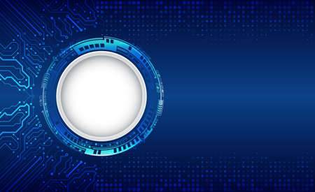 Abstract global technology concept. Digital internet communication on blue background.