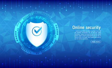 Cyber security and data privacy protection vector illustration. Internet security online concept. Global network mechanism protection. Information privacy.