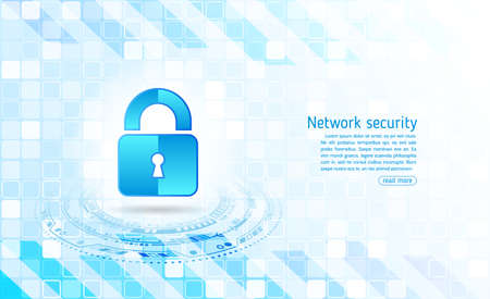 Cyber security and data privacy protection vector illustration. Internet security online concept. Global network mechanism protection.  Information privacy. Illusztráció