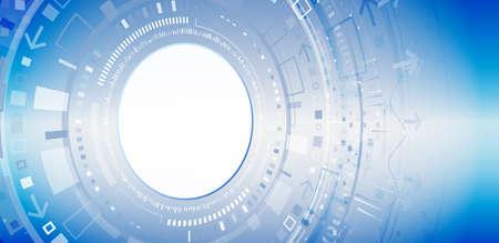 Abstract technology communication concept. Futuristic digital innovation background. Hi-tech vector illustration Illusztráció