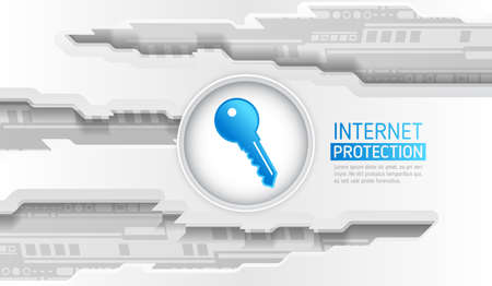 Safety and confidential data protection. Cyber data security or information privacy idea. Technology background vector illustration.
