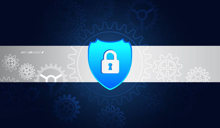 Internet protection online concept. Cyber security and data privacy protection vector illustration. Global network security mechanism. Information privacy.