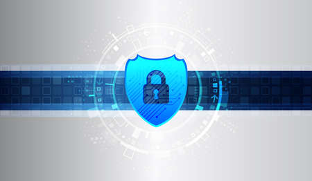 Cybersecurity for business and internet project. Vector illustration of a data security services. Data protection, privacy, and internet security concept.