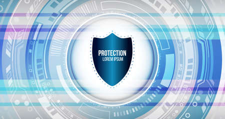Cyber security and data privacy protection vector illustration. Internet security online concept. Global network mechanism protection. Information privacy. Hi-tech communication background 일러스트
