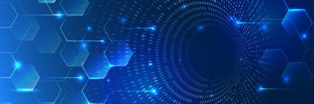 Digital data visualization. Futuristic isometric finance tradings. Big data analysis. Geometric colorful spiral array.