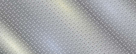Texture with reflective stainless steel. Gray gradient iron pattern vector illustration. Brushed metal black background.
