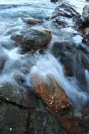 koh samet: Sea wave with stone long exposure