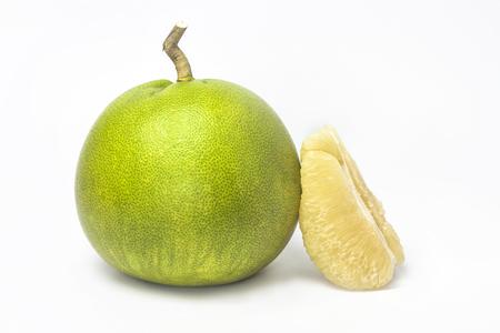 pomelo: Pomelo on white background