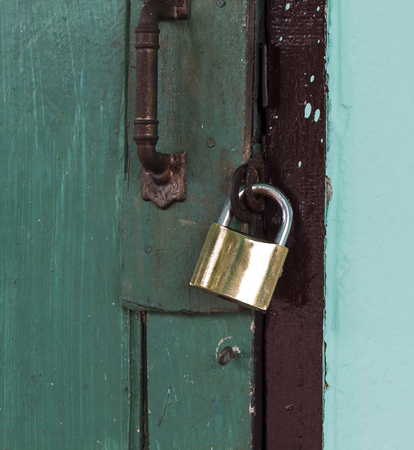 locked: Locked door Stock Photo