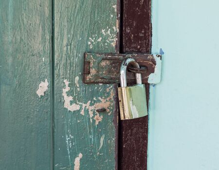 locked: Locked old door