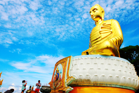 veneration: buddha statue Editorial