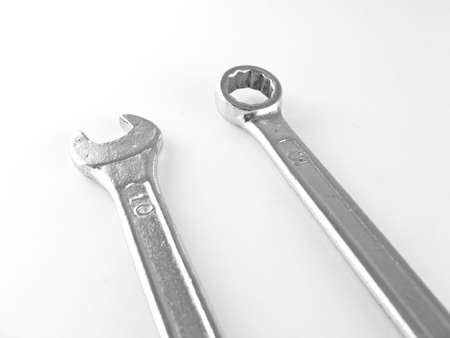 torque wrench: wrenches isolated on white