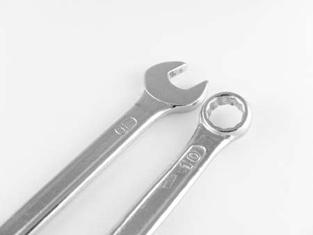 torque wrench: two wrenches isolated on white