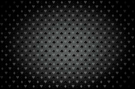 blackjack: Black and White casino background. Playing, poker, blackjack, cards symbol.