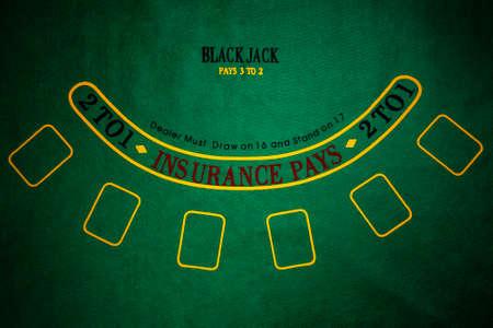 black jack: Black Jack gambling table
