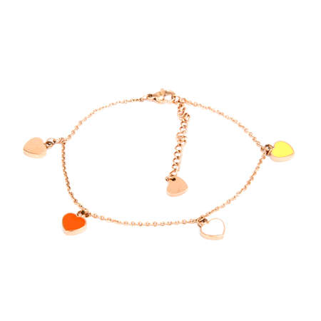 Fashion golden bracelet isolated on white