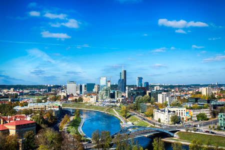 vilnius: Top view to modern part of Vilnius, capital of Lithuania
