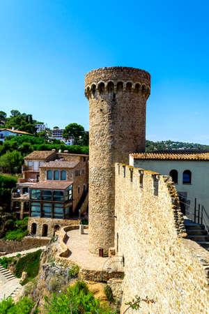 Old Town of Tossa de mar, Costa Brava, Spain. Stock Photo