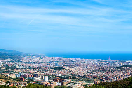 Top view of cityscape of Barcelona, Spain. Stock Photo