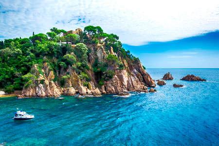 Landscape coastline Lloret de Mar, Catalonia, Spain