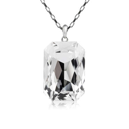 Diamond pendant isolated on white background