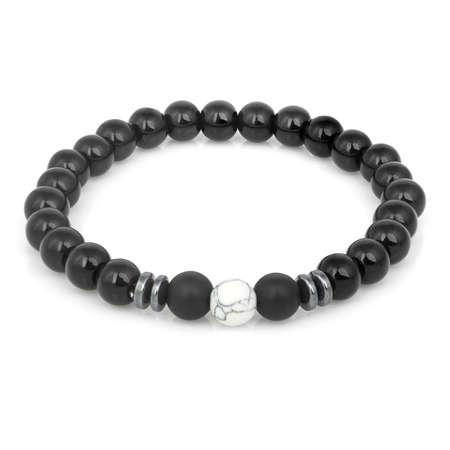Fashion stone bracelet isolated on white background