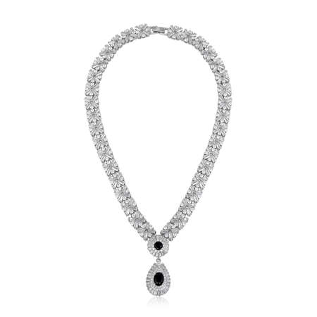 Fashion diamond pendant isolated on white background Stock Photo