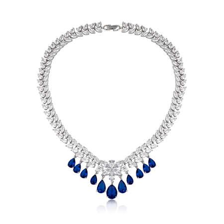 Fashion diamond pendant isolated on white background 스톡 콘텐츠