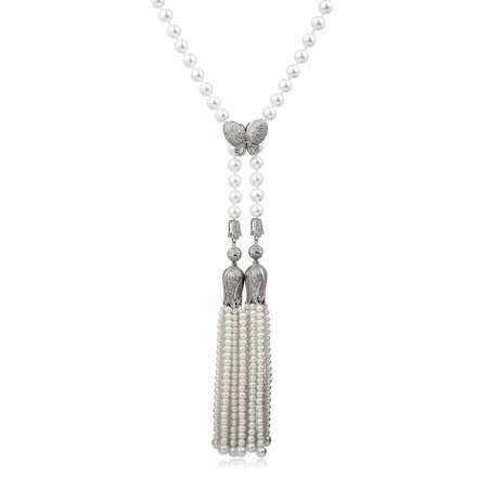 Fashion diamond pendant isolated on white background Reklamní fotografie
