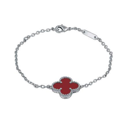 Fashion silver bracelet isolated on white background Reklamní fotografie