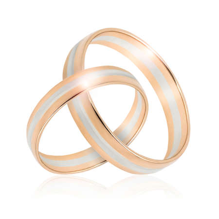 Wedding Golden rings isolated on white background