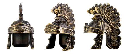 Roman helmet isolated on white background Reklamní fotografie