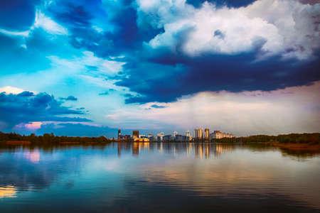 Cityscape of modern city 스톡 콘텐츠