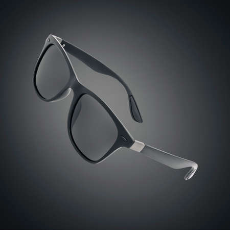 Sunglasses isolated over black bacground