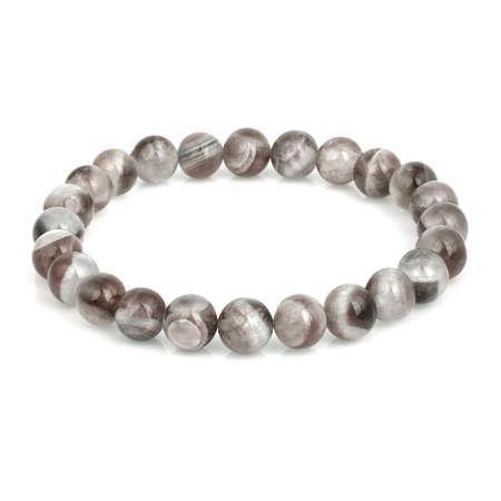 Stone bracelet isolated on white background