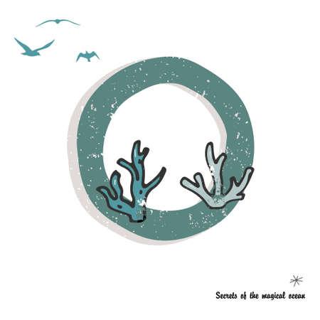 Symbol template. Vector Illustration. Underwater