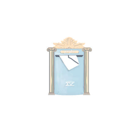 Mailbox posta letter drawing digital element illustration for letters greece posta