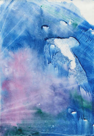 abstract blue watercolor background. hand drawn brush. painting texture paper.