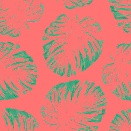 tropical botanical plants, background with leaves of coconut and banana design card jungle leaf background.