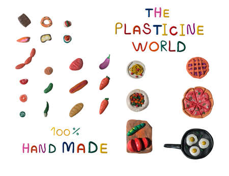 Plasticene world Plasticine food set Banque d'images - 120667755