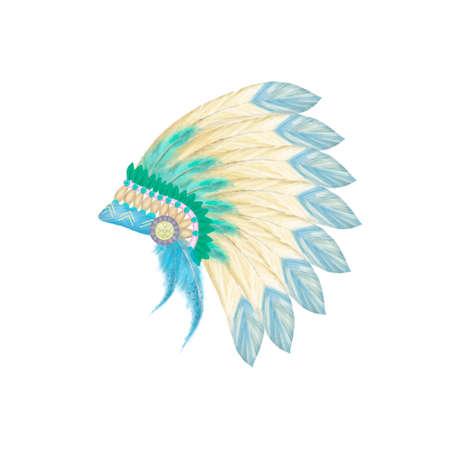 Headdress indian hat digital clip art illustration Stock Photo