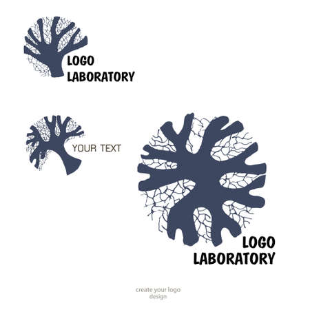 Human brain - vector logo template concept illustration. Geometric mind structure sign. Creative idea symbol. Design element. Logo