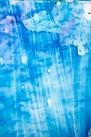 Watercolor texture splashes. Original abstract, paper, stone, ice light style turquoise color