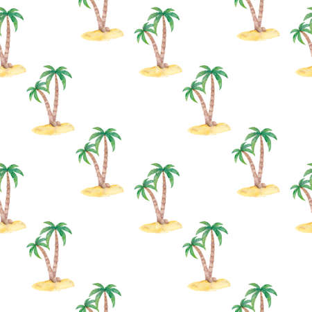 Tropical palm trees set, beach and nature concept. Bright tropical decoration.  flat style cartoon palm illustration isolated on white background