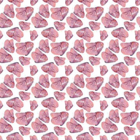 seamless pattern with decorative pink butterflies. Banco de Imagens