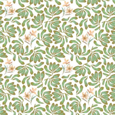 Green banana pattern design on white background
