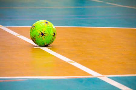 futsal ball on a futsal stadium