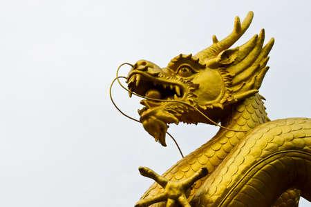 Golden Dragon Sculpture photo